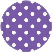 Purple Dots Paper Plates (8)